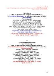 Verordnung und Erlass zur Abiturprüfung für das Abitur 2013