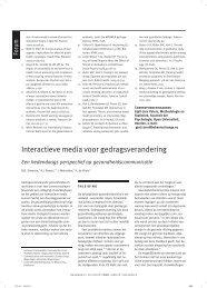 Interactieve media voor gedragsverandering