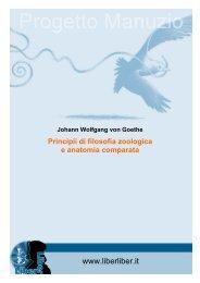 Johann Wolfgang von Goethe Principii di filosofia - Liber Liber