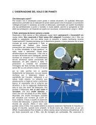 l' osservazione del sole e dei pianeti - Circolo Astrofili di Milano