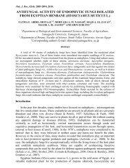 antifungal activity of endophytic fungi isolated from egyptian