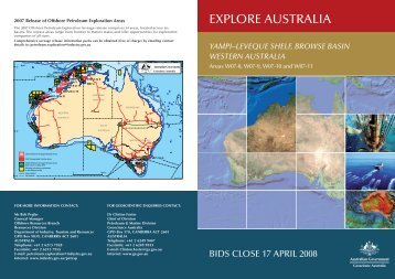 2007 Acreage release data summary - Geoscience Australia