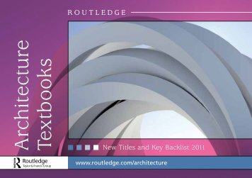 Architecture Textbooks 2011 (UK) - Routledge