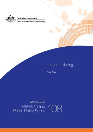 Labour trafficking / Fiona David - Australian Institute of Criminology