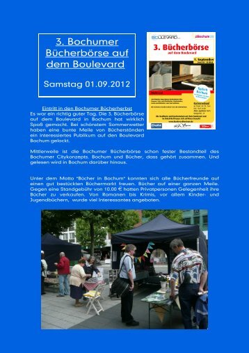 3. Bochumer Bücherbörse auf dem Boulevard