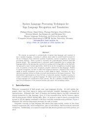 Spoken Language Processing Techniques for Sign Language ...