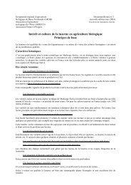 Intérêt et culture de la luzerne - L'agriculture biologique en Normandie