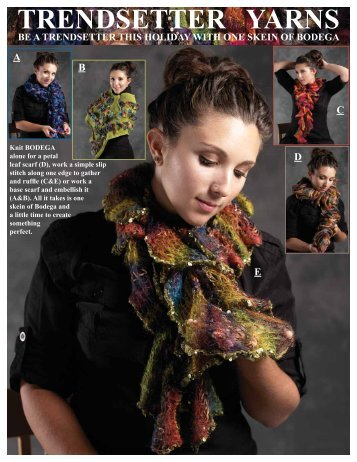 Click here to download a free pattern using - Trendsetter Yarns