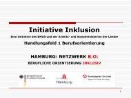 Initiative Inklusion / Berufsorientierung - Hamburger Arbeitsassistenz