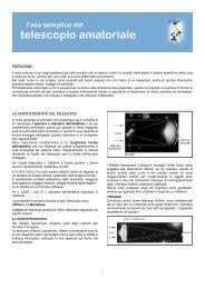 telescopio amatoriale - spazio e visione