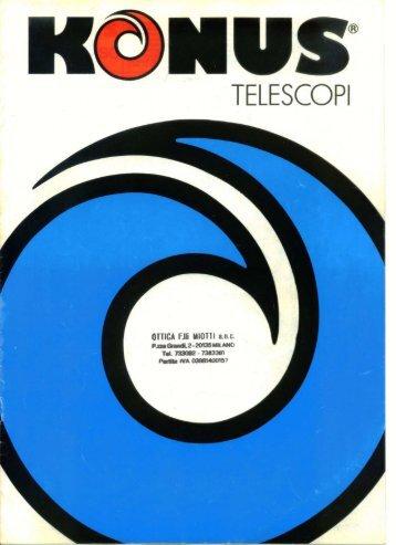 Catalogo Telescopi KONUS 1986 - specola