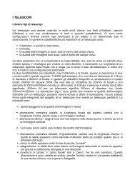 I TELESCOPI - Circolo Astrofili di Milano