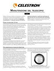 MANUTENZIONE DEL TELESCOPIO - Qvc