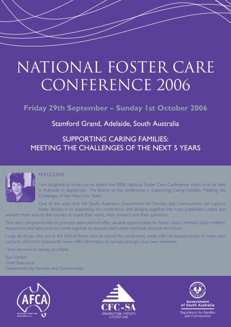 NATIONAL FOSTER CARE CONFERENCE 2006 - Australian Foster ...