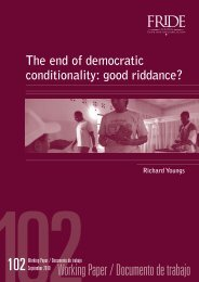 The end of democratic conditionality: good riddance?1 - Fride