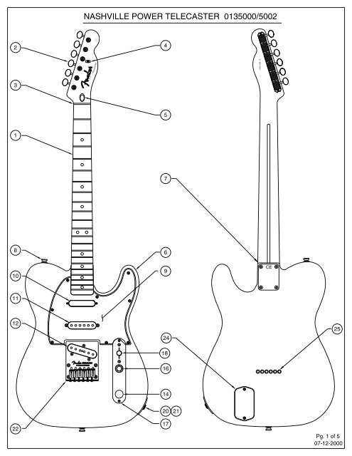 NASHVILLE POWER TELECASTER 0135000/5002 - Fender on telecaster pickup wiring diagram, telecaster texas special wiring diagram, fender tele 4-way diagram, fender telecaster 4-way switch wiring diagram, doorbell installation diagram,