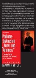 KM Kunst und Komerz Flyer.indd - Hamburger Kammerspiele