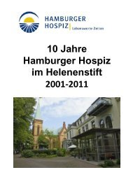 Festschrift 10 Jahre Hamburger Hospiz im Helenenstift