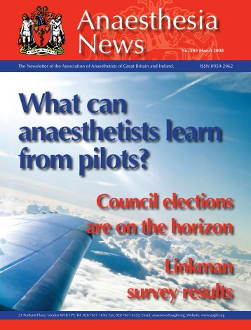 Anaesthesia What can anaesthetists learn from pilots? - aagbi