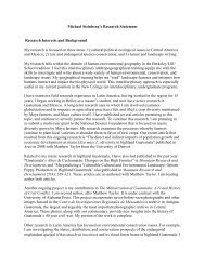 Research Statement - College of Arts & Sciences - The University of ...