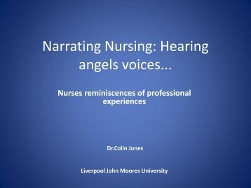Nurses reminiscences of professional experience - RCN
