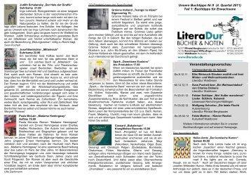 Kundeninformation Nr. 9/1 - LiteraDur