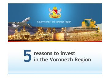 reasons to invest in the Voronezh Region 5 - rcrusia.com.ar