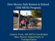 New Mexico Safe Routes to School (NM SRTS) Program