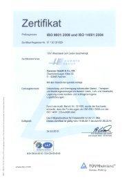 Zertifikat - Hammer