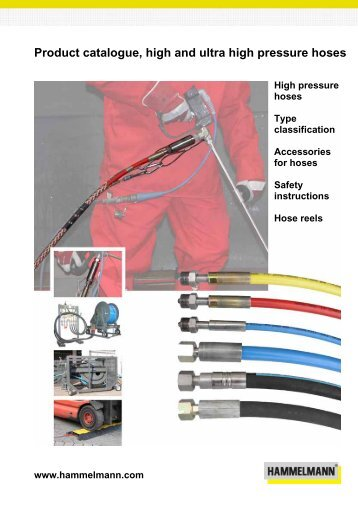 Product catalogue, high and ultra high pressure hoses - Hammelmann