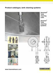 Product catalogue, tank cleaning systems - Hammelmann