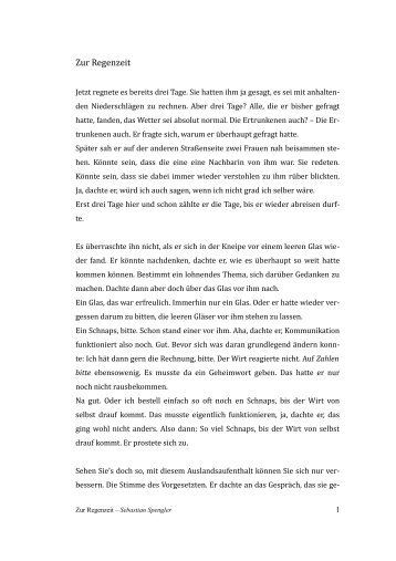 Sebastian Spengler - Zur Regenzeit