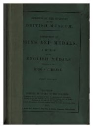 Synopsis of the Contents of the British Museum, Department of ...