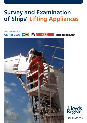 Survey and Examination of Ships' Lifting Appliances.pdf - UK P&I