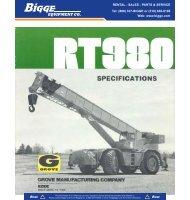 Grove RT980 Crane Chart - Cranes for Sale
