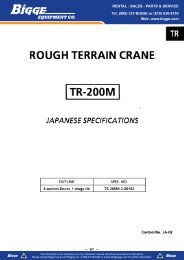 Load Chart - Cranes for Sale