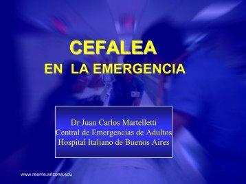 Cefalea en la emergencia - Reeme.arizona.edu