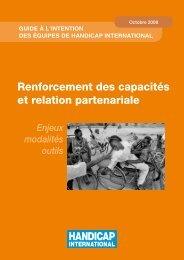 Renforcement des capacités et relation partenariale - Handicap ...