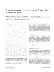 Complications of Hysteroscopy: A Prospective ... - MyoSure
