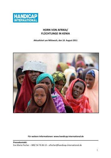 horn von afrika/ flüchtlinge in kenia - Handicap International