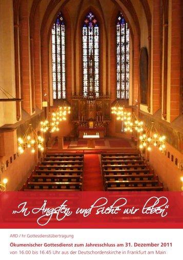 """und siehe wir leben"""" """"In Ängsten, - beim Bistum Mainz"""