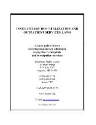 involuntary hospitalization and outpatient services laws - Disability ...
