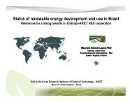 Status of renewable energy development and use in Brazil