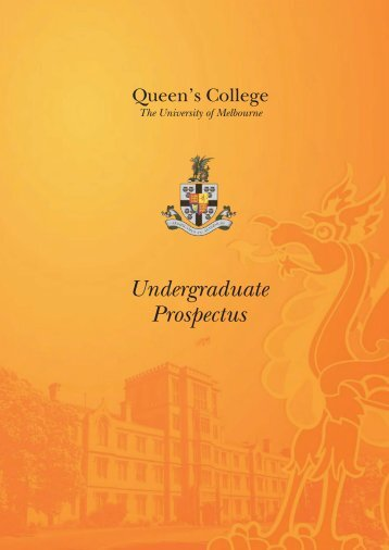Queen's College Prospectus 2013 Download PDF [3451kb]