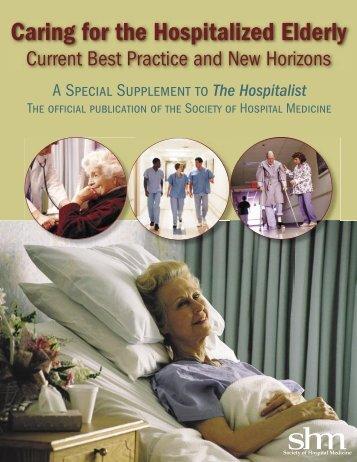 Caring for the Hospitalized Elderly - Society of Hospital Medicine