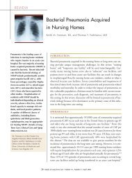 Bacterial Pneumonia Acquired in Nursing Homes - Annals of Long ...