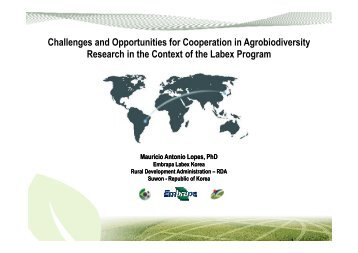 Challenges and Opportunities for Cooperation in ... - Labex Korea