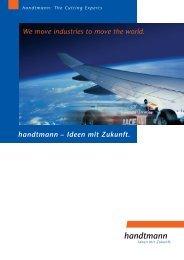 handtmann – Ideen mit Zukunft. We move industries to move the world.