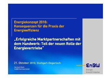 Erfolgreiche Marktpartnerschaften mit dem Handwerk - EnBW ...