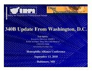 340B Update From Washington, D.C. - The Hemophilia Alliance